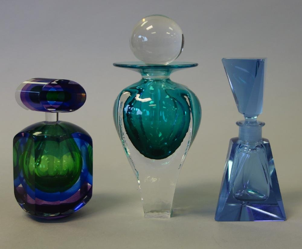 3 Perfume Bottles, Trimpol + Faceted +