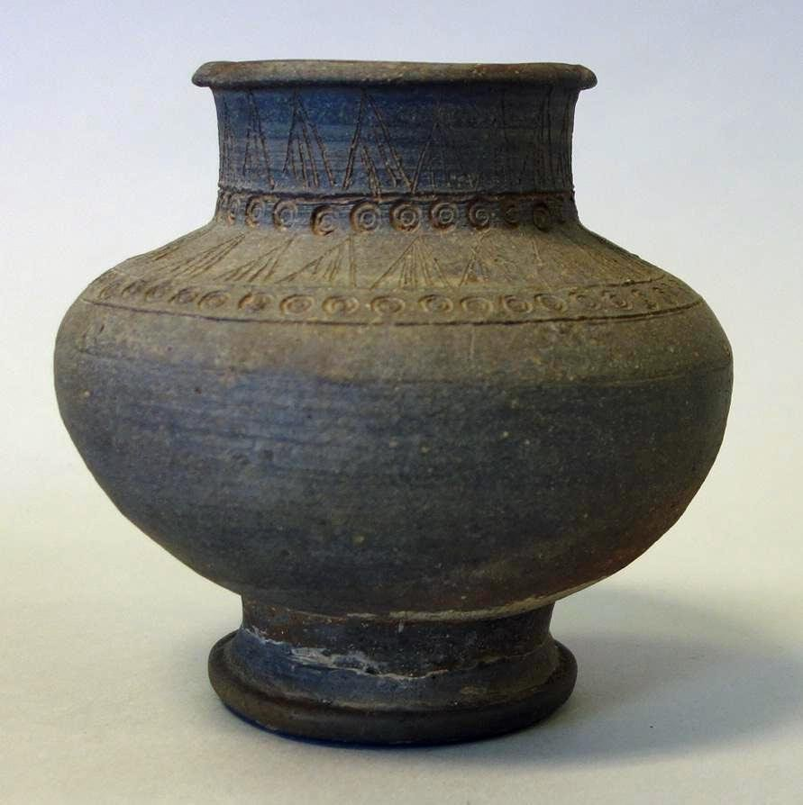 Korean Earthernware Jar, Incised Motif, Silla