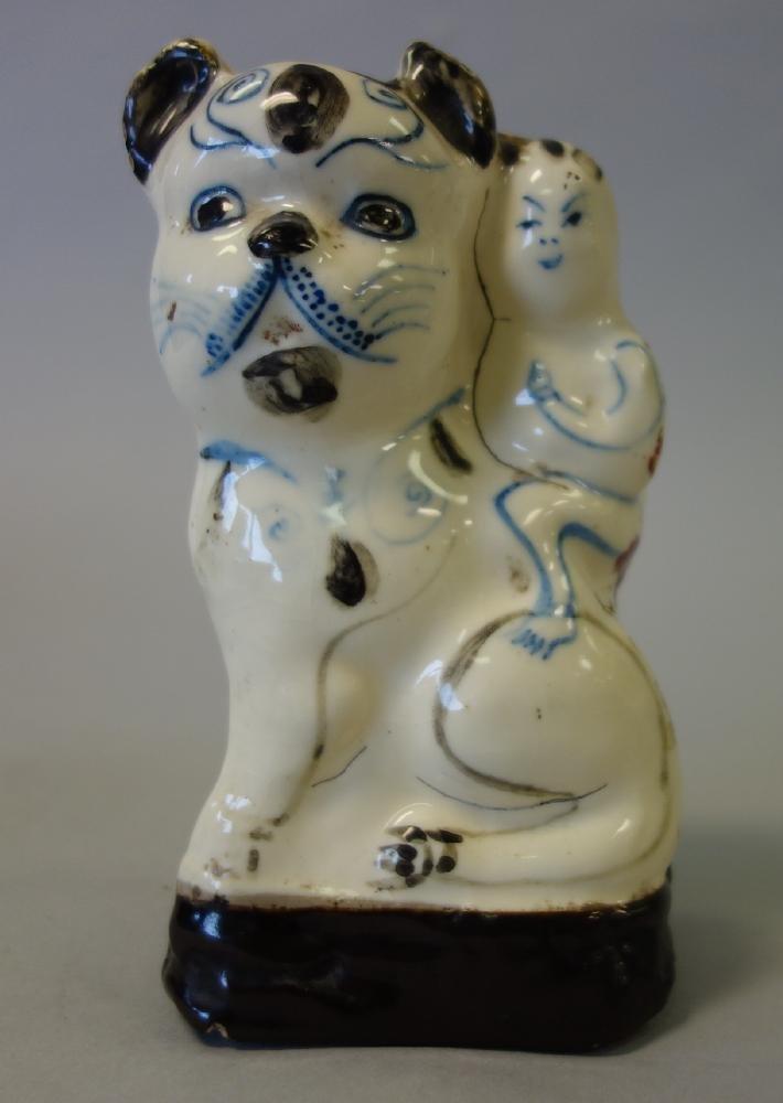 Chinese Glazed Ceramic Cat Figural Sculpture