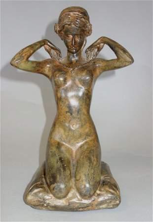 Pierre Chenet, Bronze Female Nude Sculpture