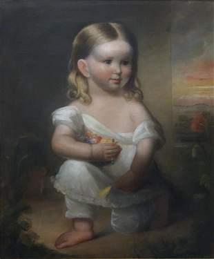 C R Parker (1799-1849) Portrait of a Young Girl