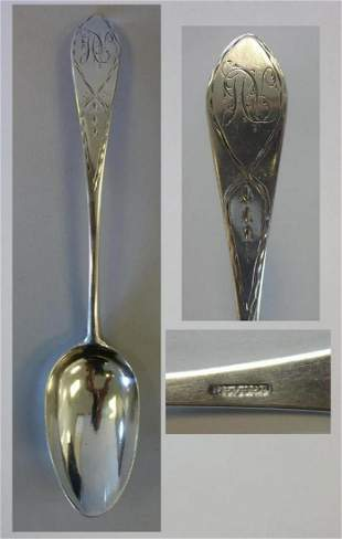 Paul Revere (1735-1818) Coin Silver Tablespoon