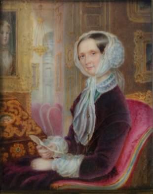 Alois von Anreiter (1803-1882) Portrait Miniature