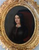 19thc French Portrait Miniature of Amelie Goubert