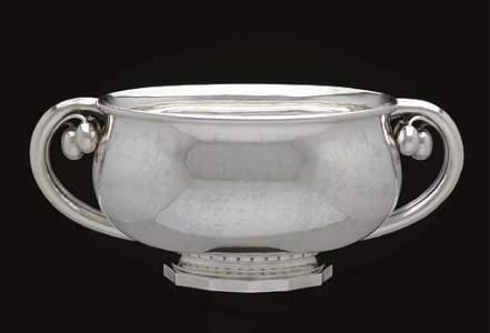 Georg Jensen Sterling Centerpiece Bowl, Cherry 501