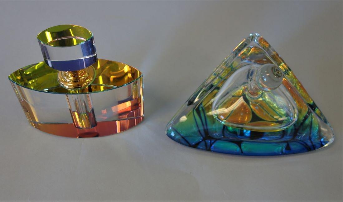 Dichroic Studio Art Glass Perfume Bottles, 1 Signd