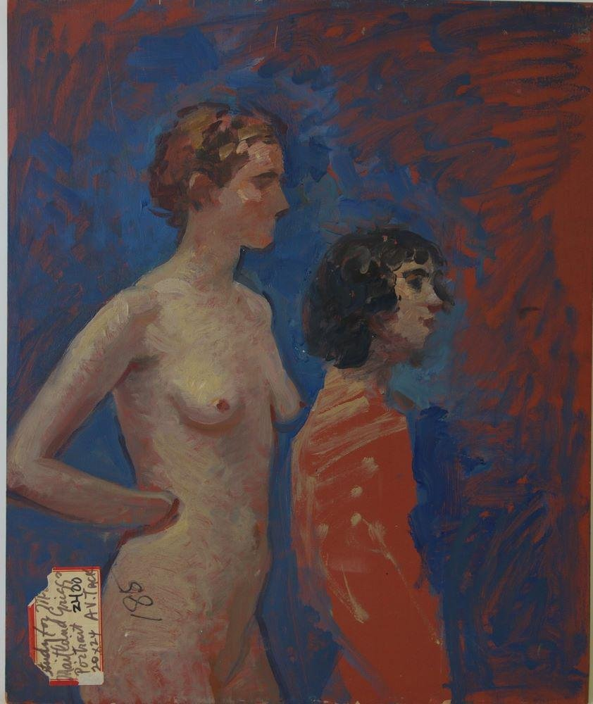 Augustus Vincent Tack, Nude Study & Interior