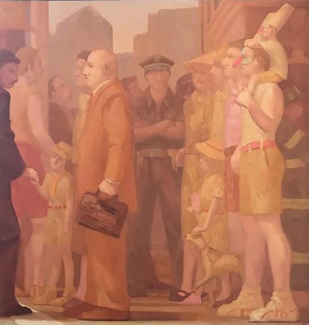 Patrick Webb (b-1955) Punchinello's City, Crossing