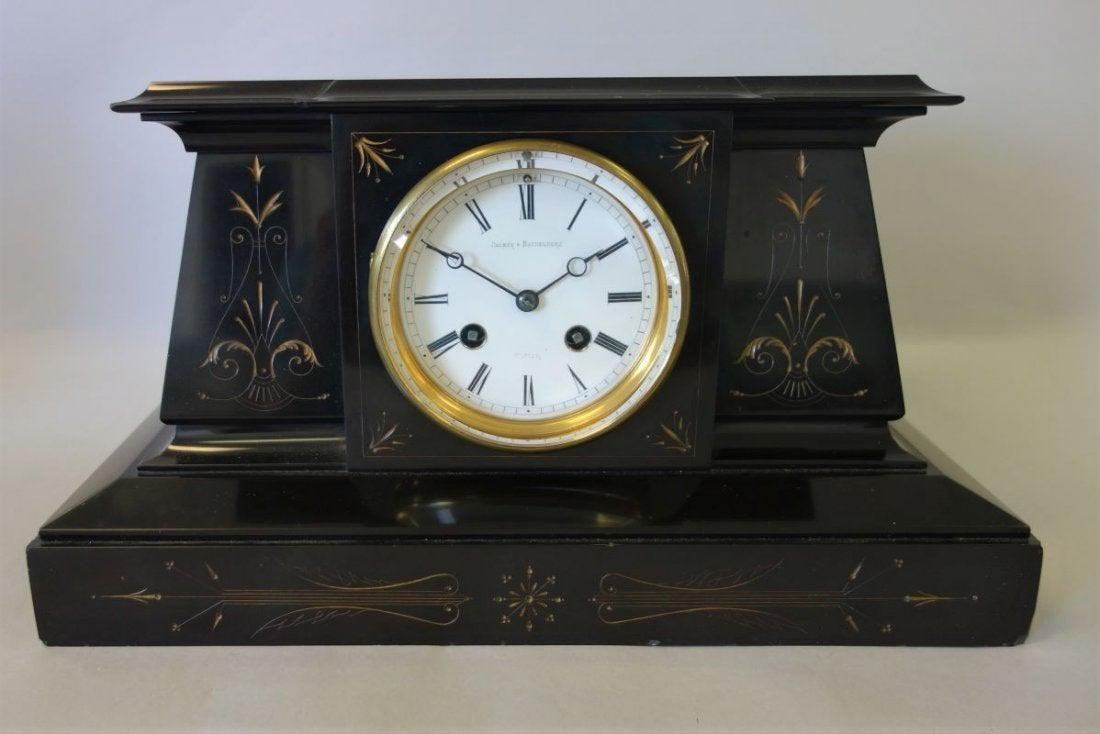 L Marti 19thc French Mantle Clock