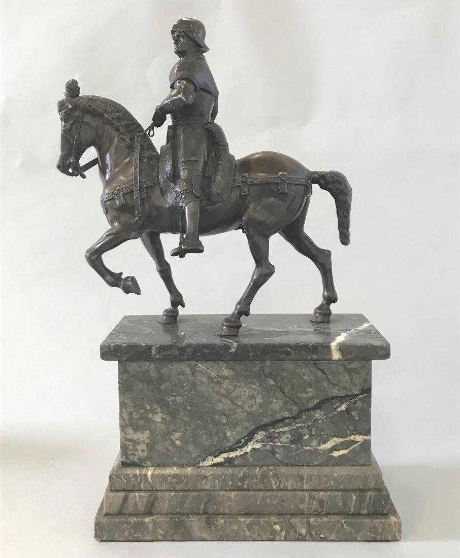 19thc Bronze of Bartolomeo Colleoni after Verrocchio