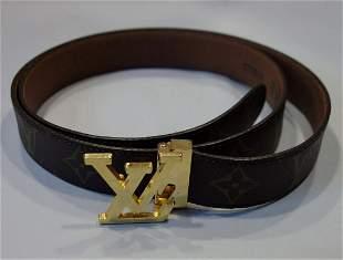 Louis Vuitton Belt, Logo Motif, Paris, France