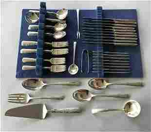 Towle Sterling Flatware Set, Candlelight Ptn 70pcs