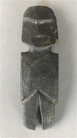 Mezcala Culture Carved Stone Axe Figure, c.500 AD