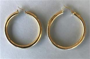 18K & 14K Gold Hoop Earrings