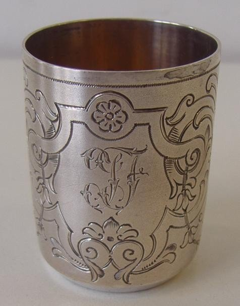 11: Russian Silver Vodka Cup, c.1894
