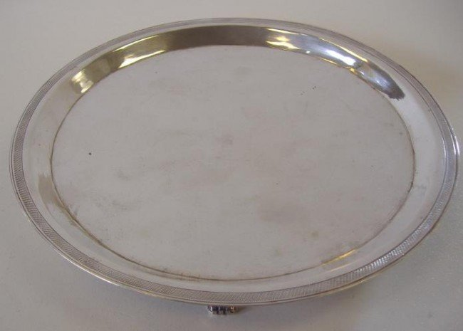12: Continental 800 Silver Tri-Footed Salver