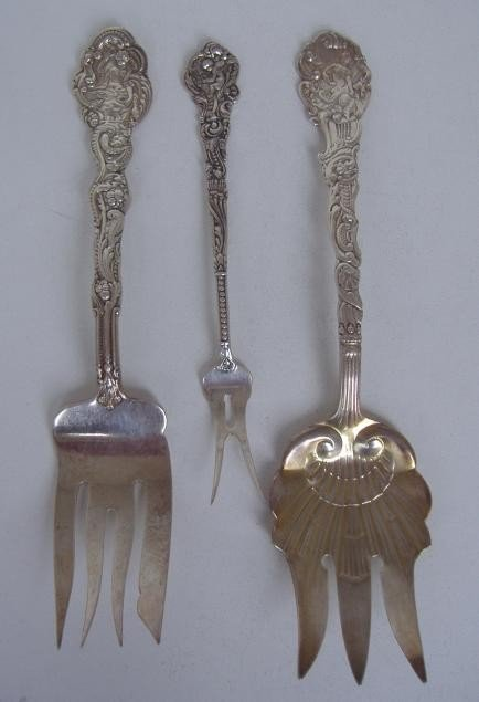 3: Three Gorham Sterling Versailles Serving Forks