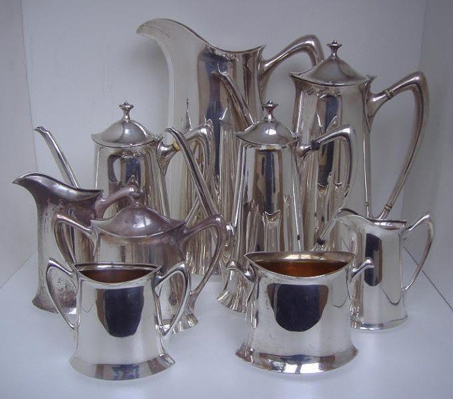 15: Towle Sterling 9-Piece Coffee Tea Set,146.4 ozt