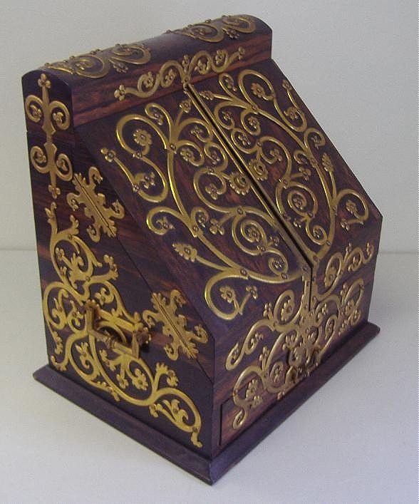 131: Rare Tiffany & Co. Ebony & Brass Letter Box