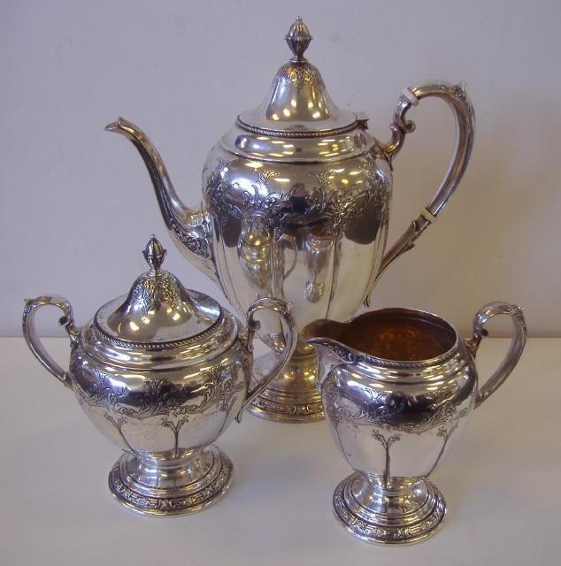 5: Gorham Sterling Coffee Pot, Creamer & Sugar