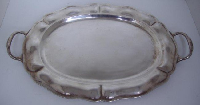 7: Mexican Sterling Tray by Otaduy
