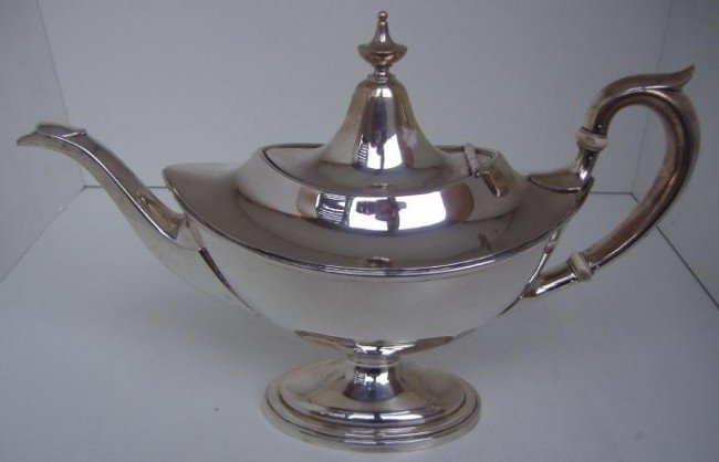 8: Sterling Teapot by Gorham, Aladdin Shaped