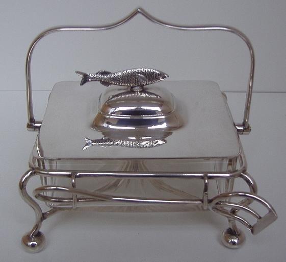 10: Silverplated Sardine Serving Box