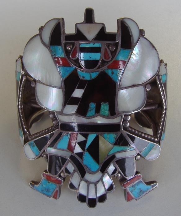 23: Zuni Bracelet Spiny Oyster,Shell,Jet & Turquoise