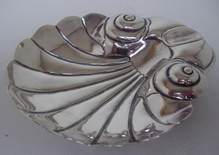 6: Sterling Modernist Tray, Mexico