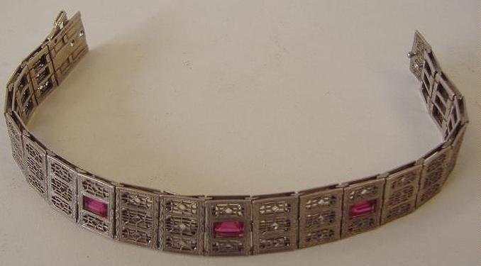 14: Sterling Art Deco Filigree Bracelet