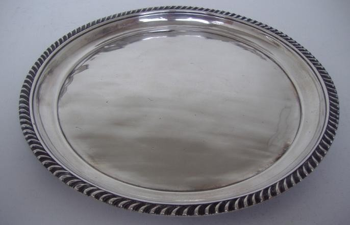 16: Russian Silver Tray, St. Petersburg, 1825-1938