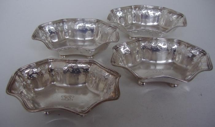 21: Tiffany & Co Sterling Nut Dishes, set of four