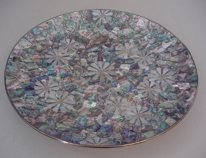 23: Los Castillo Taxco Mother of Pearl Abalone Tray