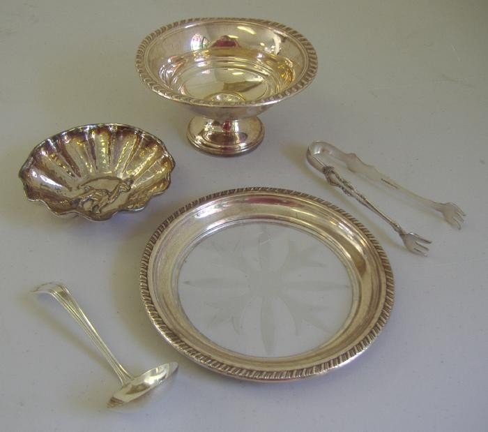 10: Sterling Compote, Dish, Ladle, Bowl, etc