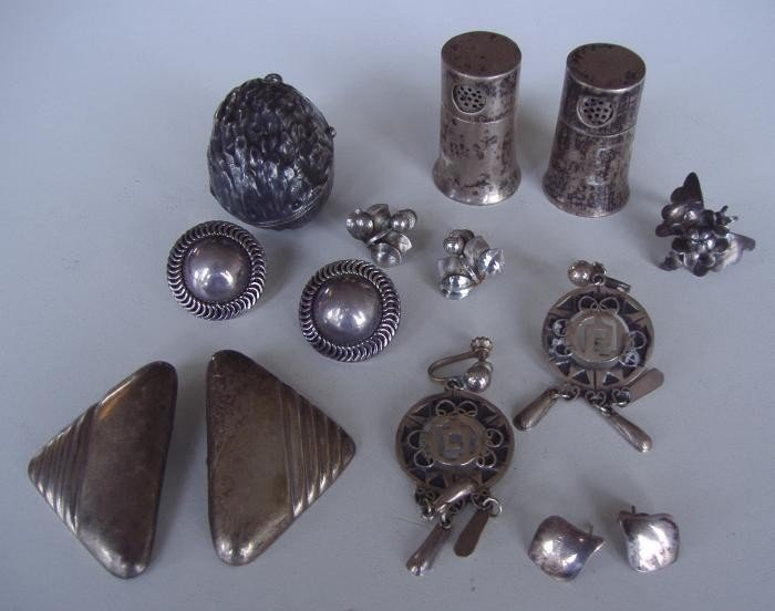 11: Sterling & Silver Grouping & a Lindbergh Cuff