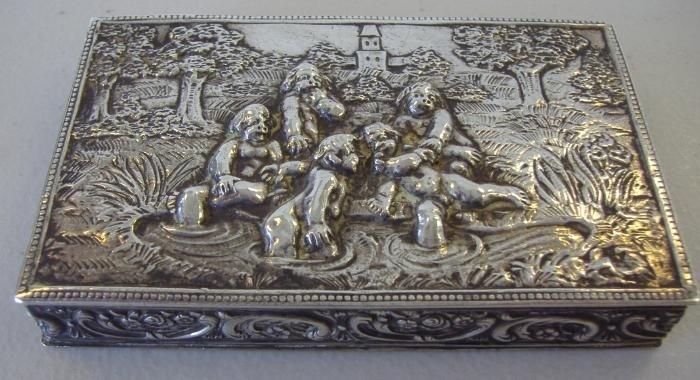 15: 800 Silver Box Putti Motif, Karl Sohnlein & Sohne