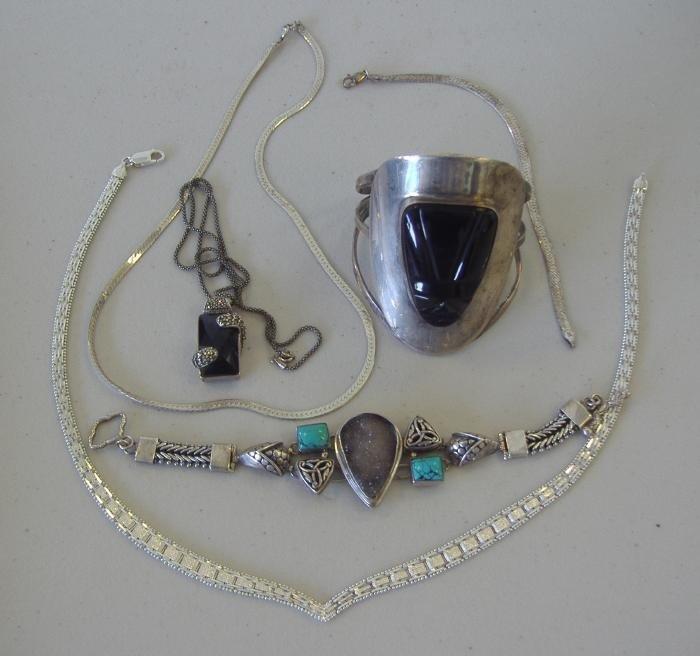 21: Sterling & Stone Necklaces & Bracelets