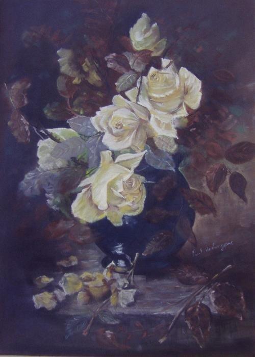 22: Paul de Longpre (1855-1911) Floral Pastel