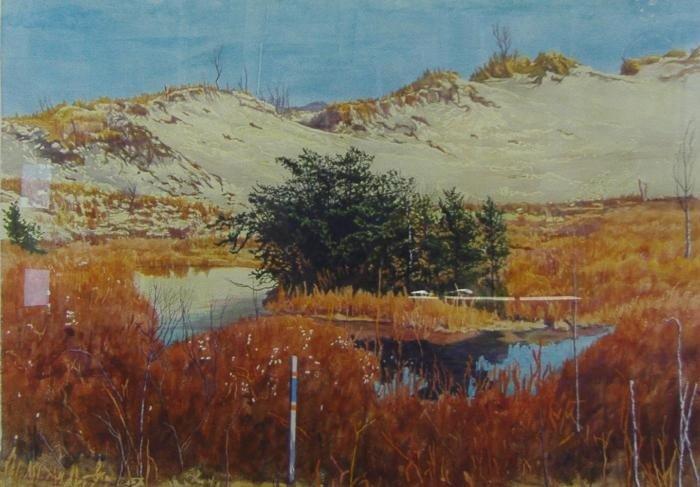 24: Chapman Kelley  (1932 - )  Texas Dunes Watercolor