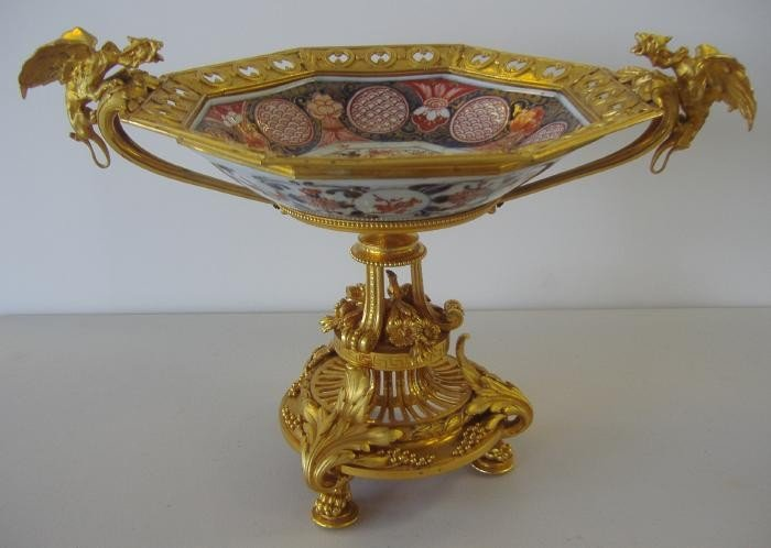 66: Christofle Gilt Bronze Imari Centerpiece Bowl