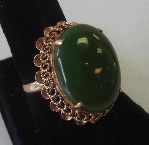3: Jade Ring set in 18K Gold