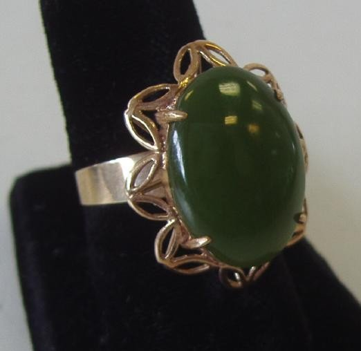 4: Jade Ring set in 14K Gold