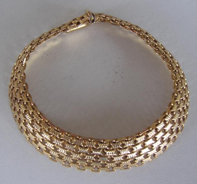 5: 14K Gold Italian Mesh Bracelet