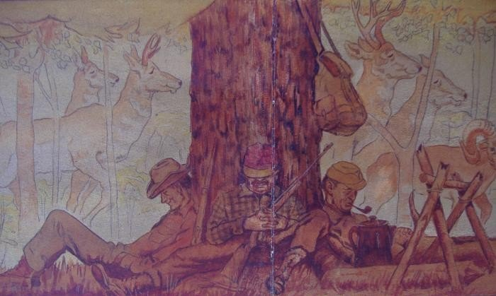 38: Crosby DeMoss Ernest Hemingway, Cooper Painting