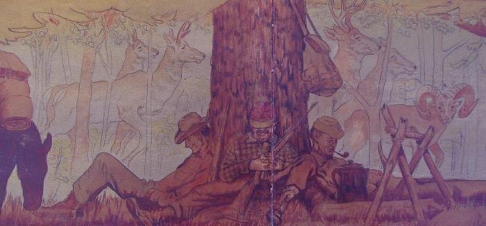 38: Crosby DeMoss Ernest Hemingway, Cooper Painting - 3