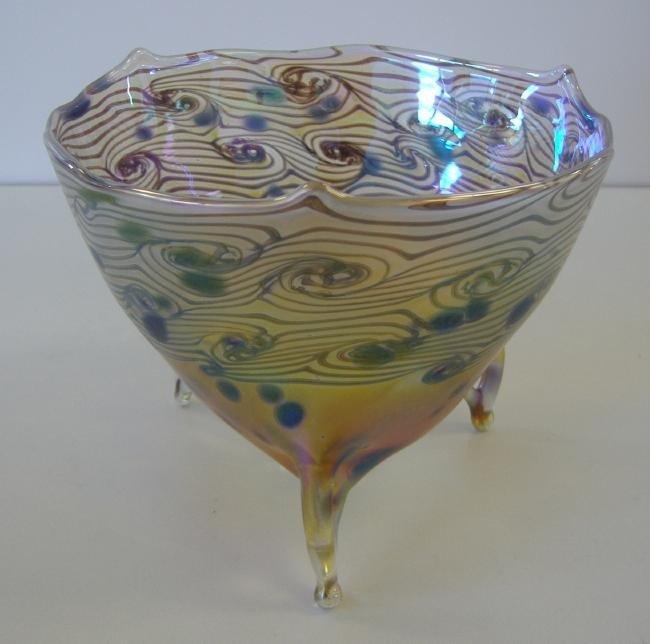 """9: Igor Muller Czech Art Glass Bowl, """"Asian Fusion"""""""
