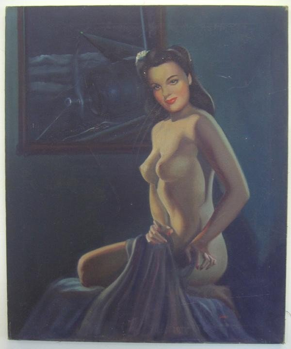 22: Nude Female Painting, c1940s Aviation Nose Art
