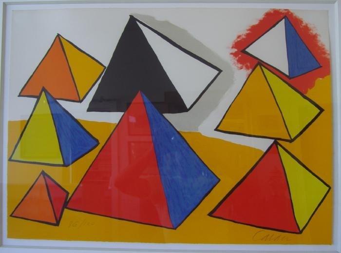 62: Alexander Calder Homage to Euclid, Pyramids
