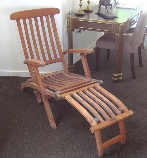 168: S.S New Amsterdam Teak Deck Lounge Chair