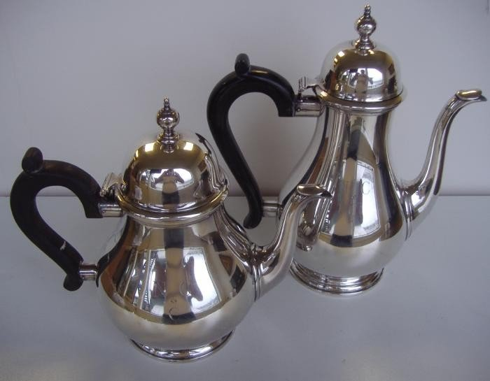 16: Tiffany & Co Sterling Teapot and Coffee Pot